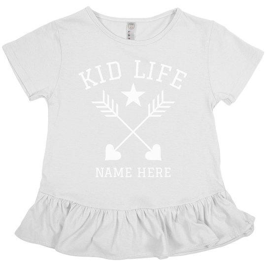 Kid Life Custom Girls Ruffle Tee