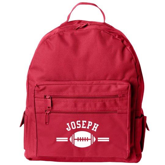 Kid's Back to School Custom Football Backpack