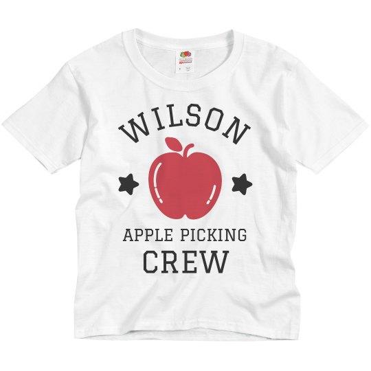 Kid's Custom Apple Picking Crew