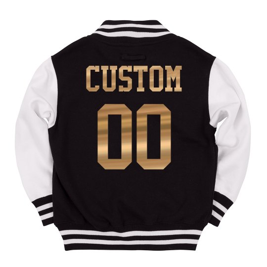 Kids' Custom Letterman Metallic