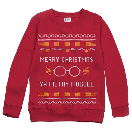 Kids Custom Merry Christmas Filthy Muggle