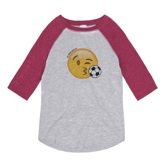 KIDS: Emoji Soccer 3/4 Sleeve