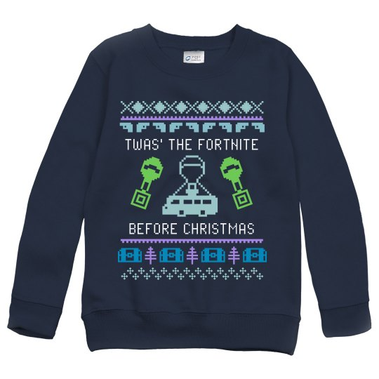 Kids Fortnite before Christmas Crewneck