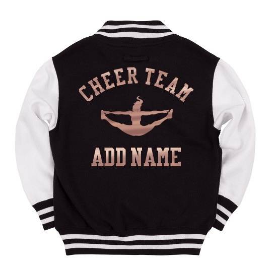 Kids' Letterman Custom Cheer Metallic