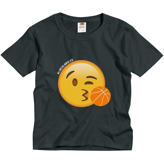 KIDS: Lincoln Rules Basketball (dark colored tees)