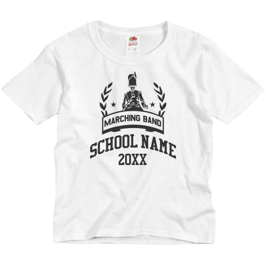 Kids Marching Band School Tee