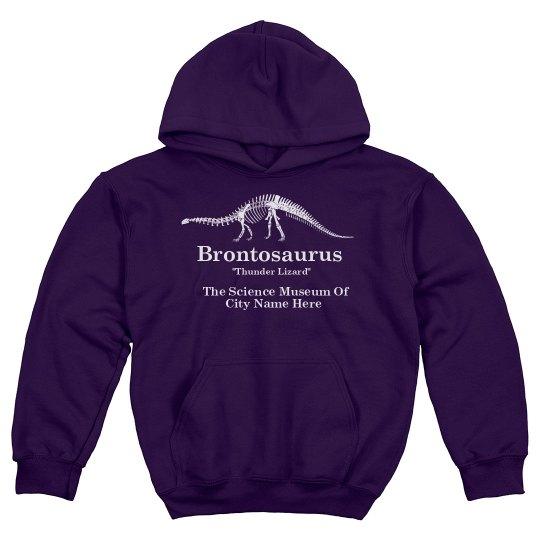 Kids Retro Brontosaurus Science
