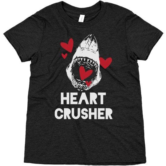 Kids Shark Valentine Heart Crusher