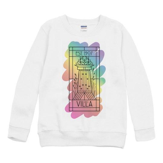 Kids Villa Rainbow Paint Sweatshirt