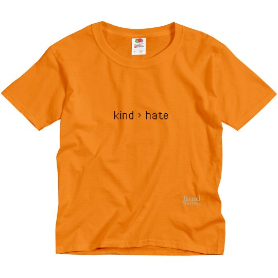 Kind greater than Hate youth tee
