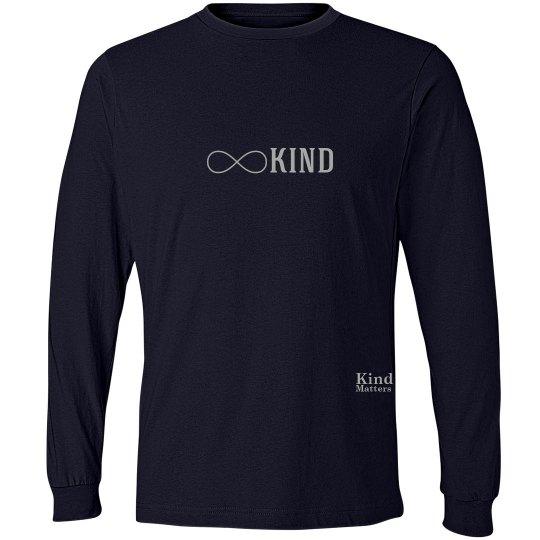 Kind infinity unisex/mens long sleeve tee