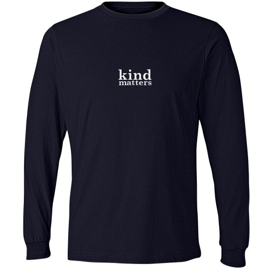 Kind Matters unisex/mens long sleeve tee
