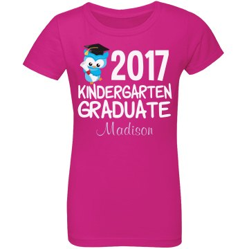 Kindergarten Graduation Girl