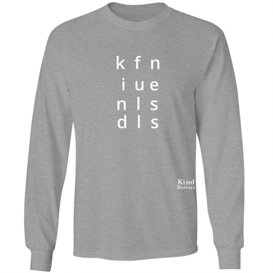 Kindfullness unisex/mens long sleeve tee