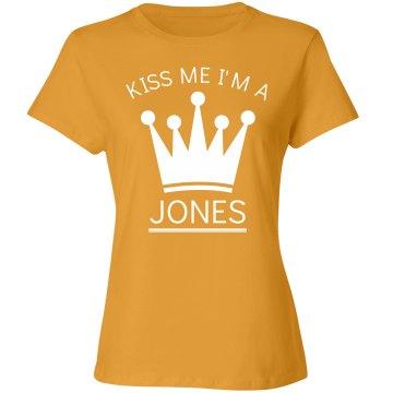 Kiss me I'm a Jones