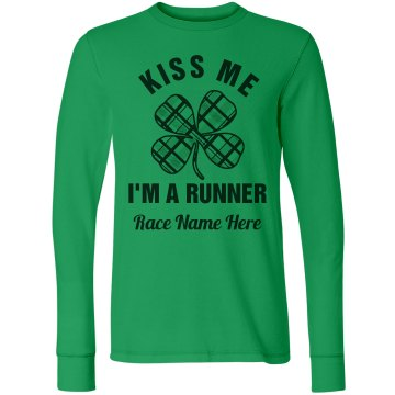 Kiss Me I'm A Runner St Patricks