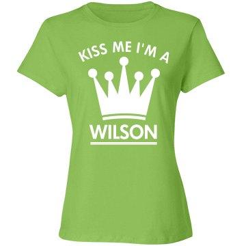 Kiss me I'm a wilson