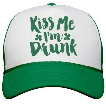 Kiss Me I'm Drunk Green Shamrock