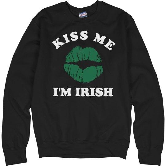 Kiss Me I'm Irish Green Lips