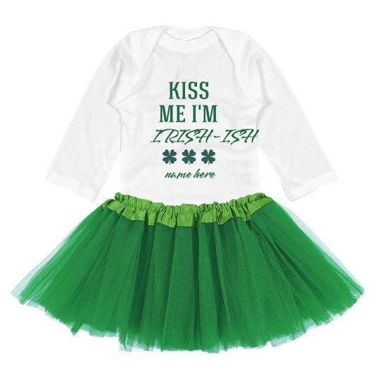 Kiss Me I'm Irish-Ish Custom St. Patrick's Day Baby