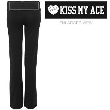 Kiss My Ace Volleyball Wordplay Pants