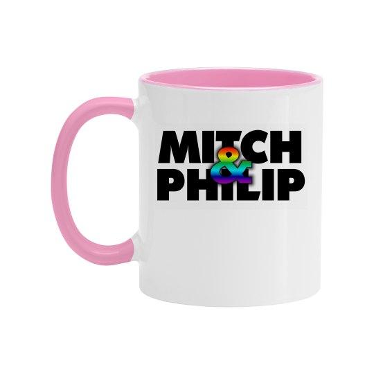 Kitchen Queers Two Tone Rainbow Logo Mug