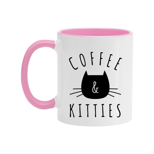 Kittens and Coffee Custom Mug