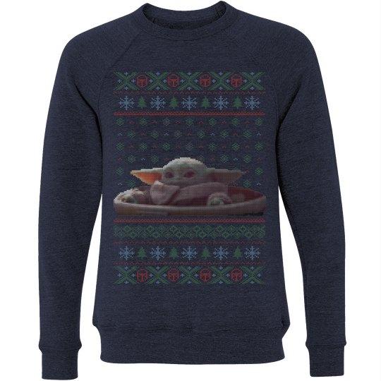 Knit Baby Alien Ugly Sweater