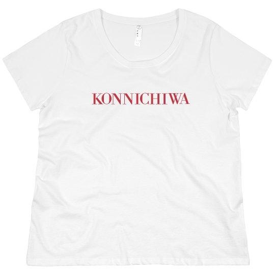 Konnichiwa Tee Red