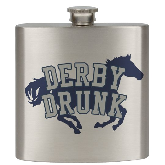 KY Horse Derby Drunk Flask