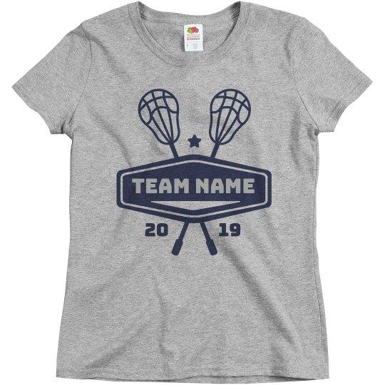 Lacrosse Custom Lax School Team & Colors Tee