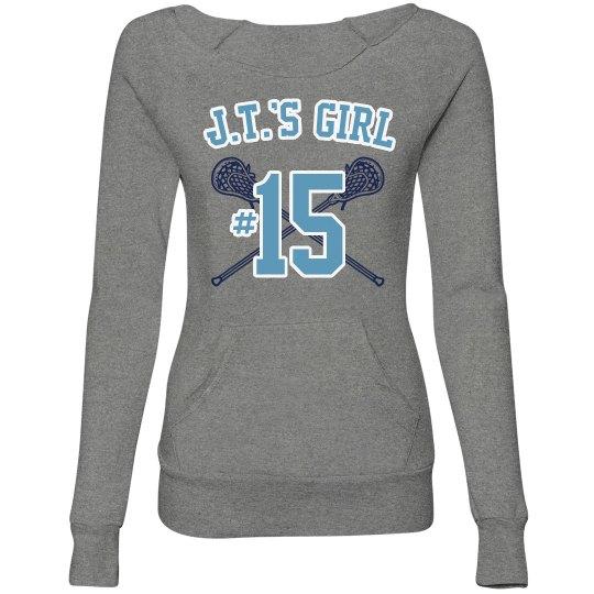 Lacrosse Girlfriend Custom Sweatshirt For Girls