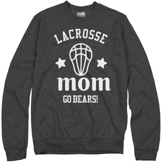 Lacrosse Mom Custom Mascot Comfy Sweatshirt
