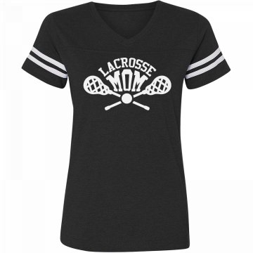 Lacrosse Mom V-Neck Tee