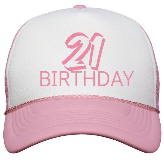 Ladies 21ST Birthday Cap