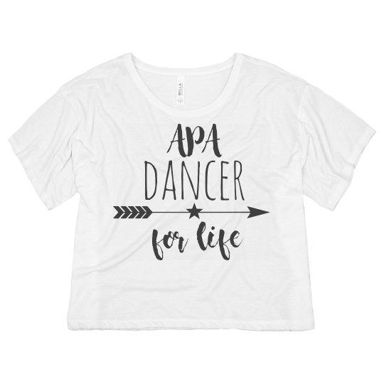 Ladies APA Dancer For Life Crop