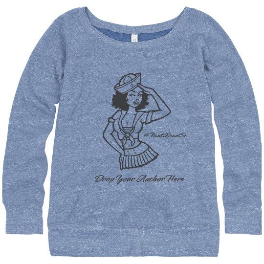 Ladies Bella's Slouchy Wideneck Sweatshirt