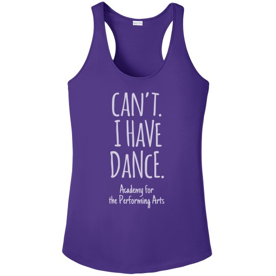 Ladies Can't I Have Dance Tank APA