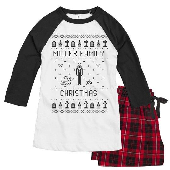 Ladies Custom Before Christmas Family Pj's