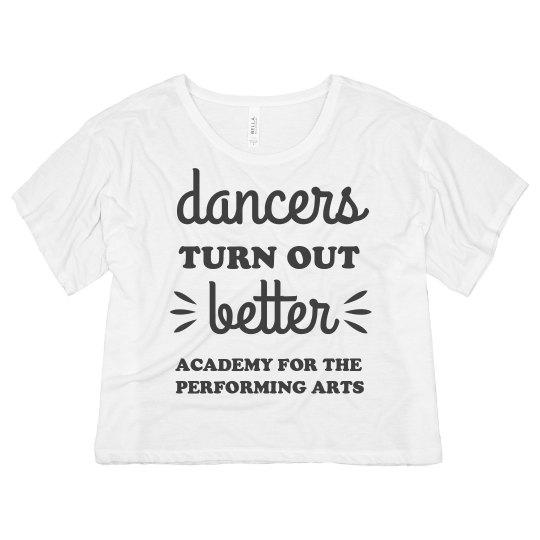 Ladies Dancers Turn Out Better Crop Top APA