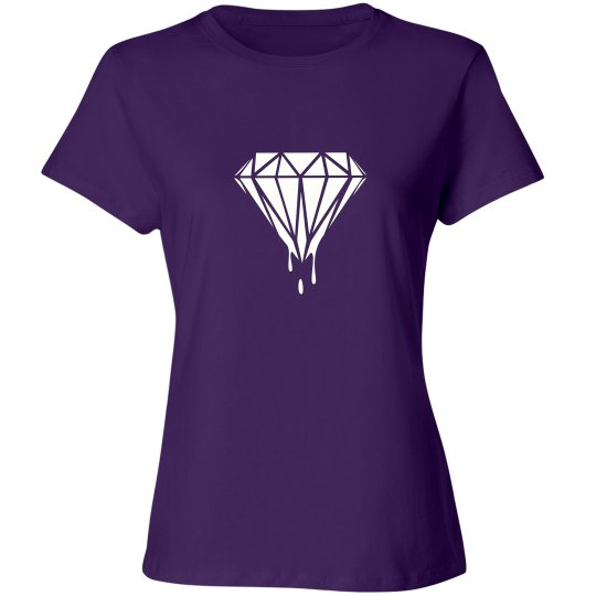 Ladies Dripping Diamond Crewneck Tee