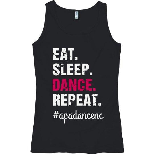 Ladies Eat Sleep Dance Tank APA