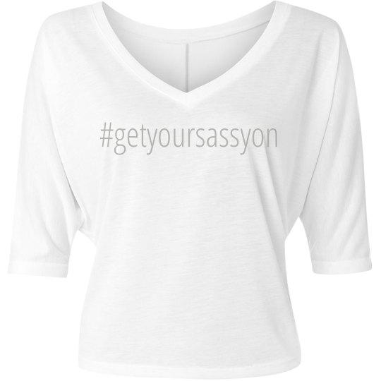 Ladies flowy half sleeve t-shirt