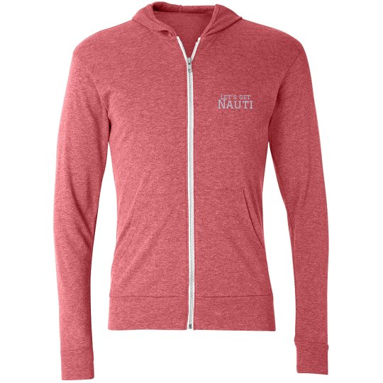 Ladies Lightweight Zip Up Hoodie