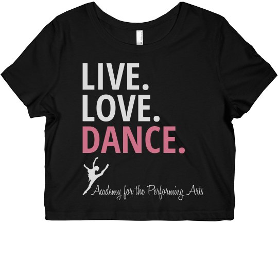 Ladies Live Love Dance Crop APA