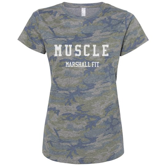 Ladies Relaxed Camo Tee
