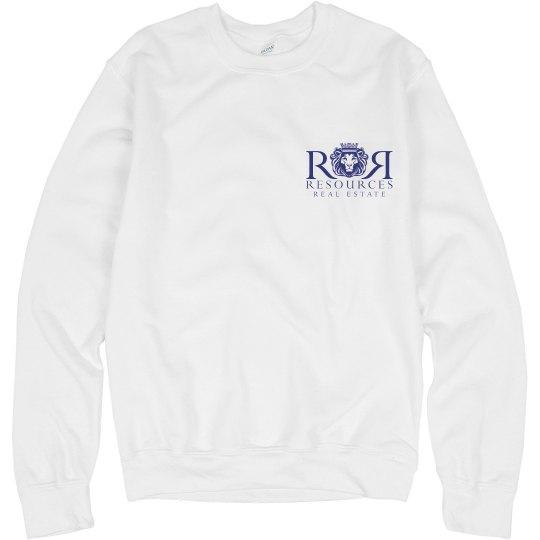 Ladies White Crew Sweatshirt