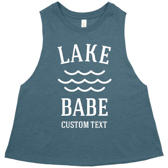 Lake Babe Custom Crop Vacation Tank