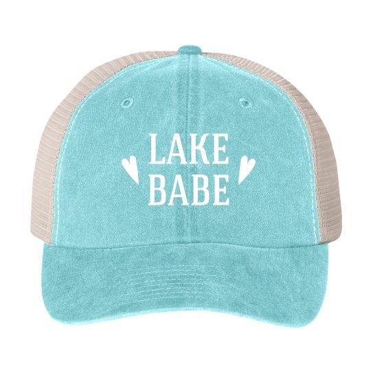 Lake Babe Vintage Blue Trucker Boat Hat