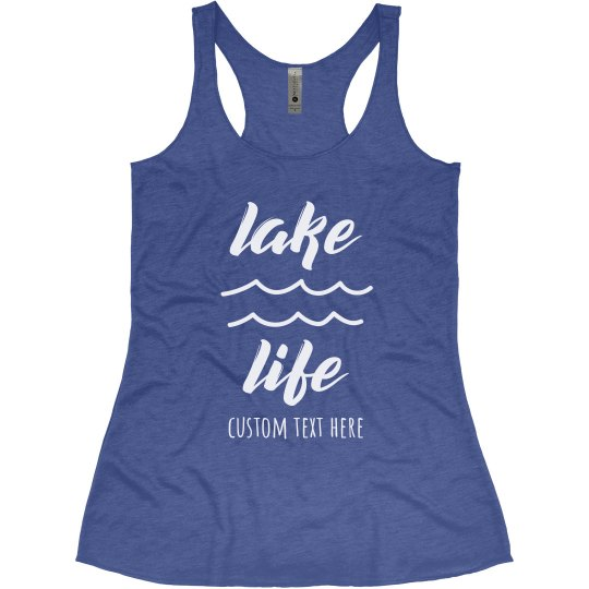 Lake Life Custom Racerback Tank